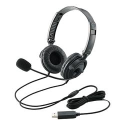 USBヘッドセット(両耳オーバーヘッド) HS-HP20UBK