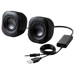 コンパクトスピーカー/4W/USB電源/ブラック