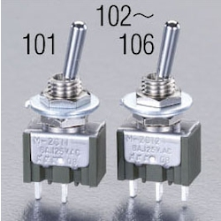 125V/6A(6mm) 単極単投/トグルスイッチ