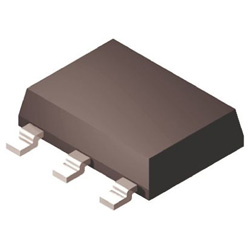 ON Semiconductor Nチャンネル パワーMOSFET, 200 V, 850 mA, 3+Tab ピン パッケージSOT-223