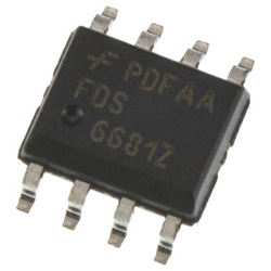 ON Semiconductor Pチャンネル パワーMOSFET, 30 V, 20 A, 8 ピン パッケージSOIC