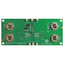 評価ボード ON Semiconductor NCP45521IMNGEVB Integrated Load Switch with Ultra-Low Ron, 11.5A, Evaluation Board