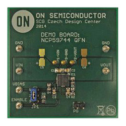 評価ボード ON Semiconductor NCP59744MN2ADJGEVB Precision Ultra-Low Dropout Voltage Regulator Evaluation Board