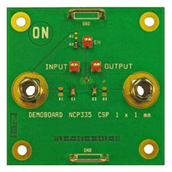 評価ボード ON Semiconductor NCP435FCT2GEVB Controlled Load Switch with Auto-Discharge Path Evaluation Board