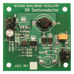 評価ボード ON Semiconductor MC34063SMDBBGEVB Buck-Boost Regulator Evaluation Board for MC34063ADG