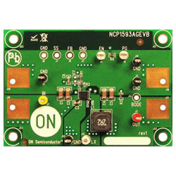 評価ボード ON Semiconductor NCP1593AGEVB Synchronous Buck Regulator Evaluation Board for NCP1593AMNTWG
