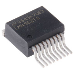 Texas Instruments オーディオパワーアンプ IC, 10-Pin TO-263 AB級, ステレオ