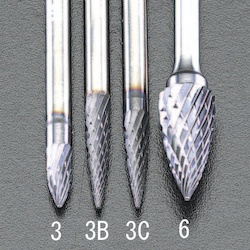 3x 10mm/3mm軸 [Coated]超硬バー