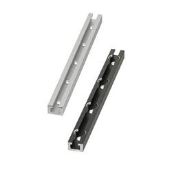 スイッチ・センサ用レール アルミタイプ L寸指定 穴位置指定 キリ穴・キリ欠け穴タイプ
