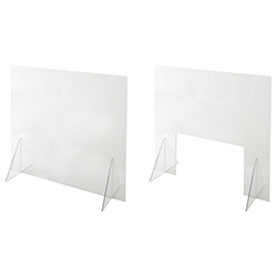 【幅500/幅800】飛沫防止透明パーテーション 窓無し/窓付き