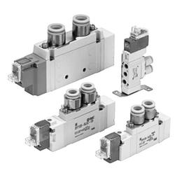 5ポートソレノイドバルブ 直接配管形 単体 SY3000シリーズ